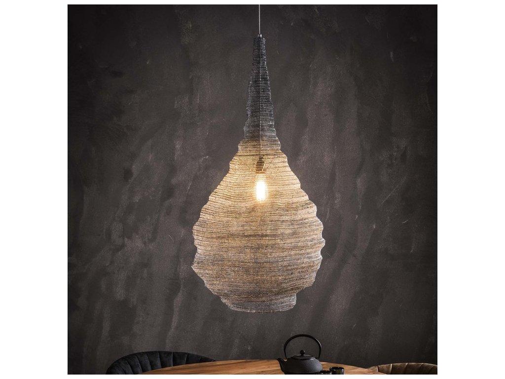 závěsná lampa pletené hnízdo