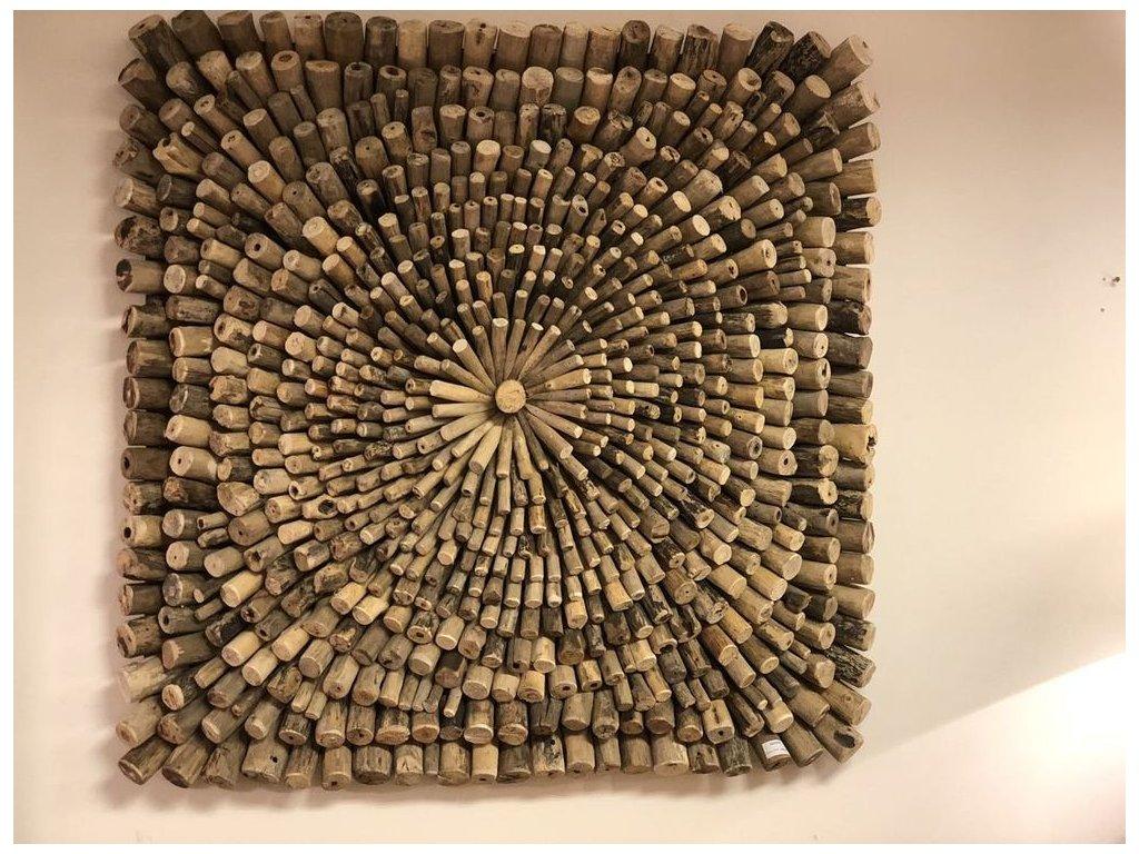 dřevěná dekorace na stěnu pravidelná WOOD