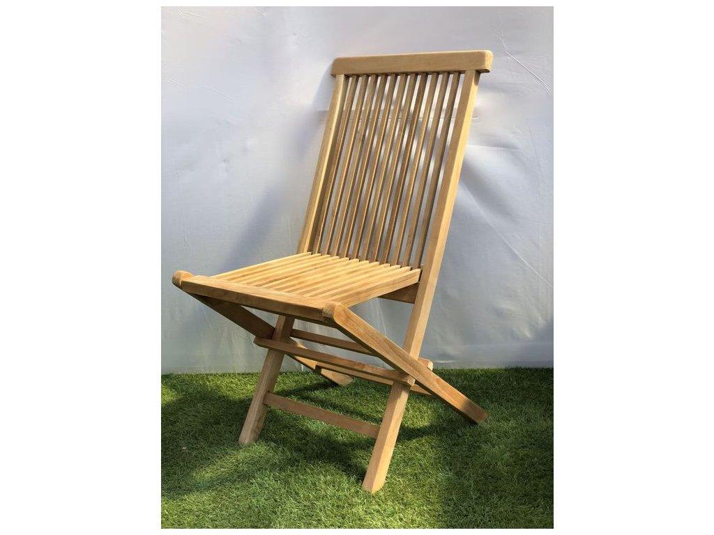 teaková skládací židle LIPAT