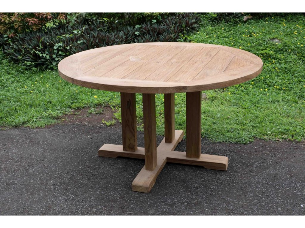 teakový stůl ROUND NEW dia 140, různé