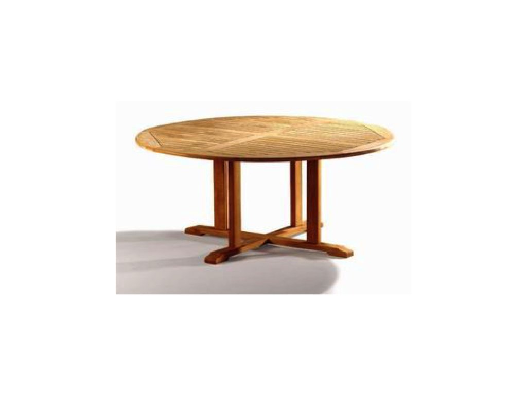 zahradní teakový kulatý stůl dia 150cm