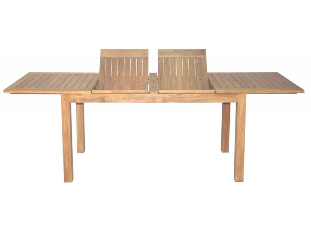 teakový zahradní stůl Rosselini 140-180-220x90