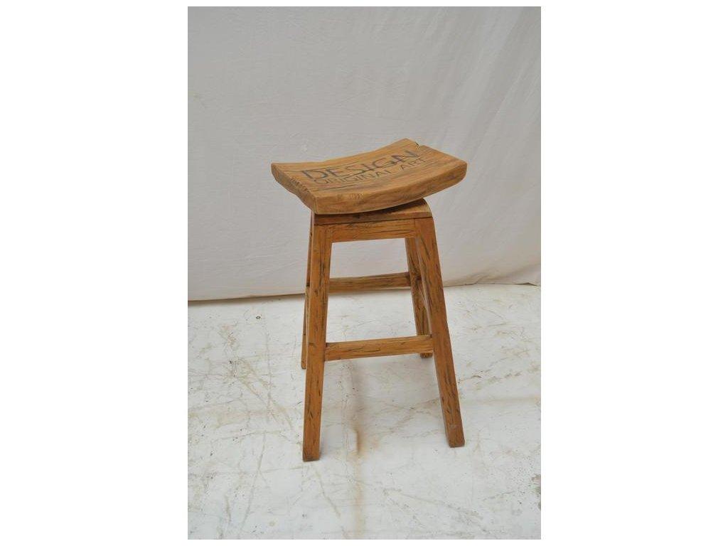 teaková barová židle VESEL