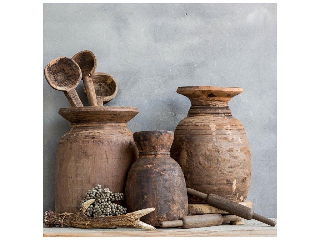 stará dřevěná váza NEPAL
