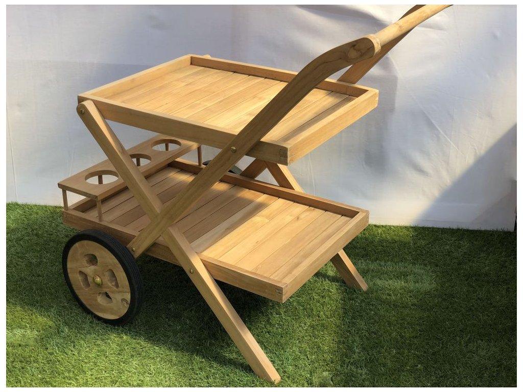 teakový servírovací vozík; SLEVA!!!