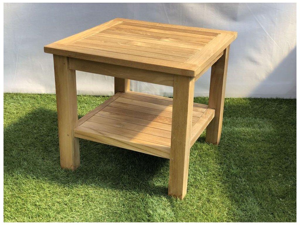 teakový zahradní odkládací stolek BATAVIA