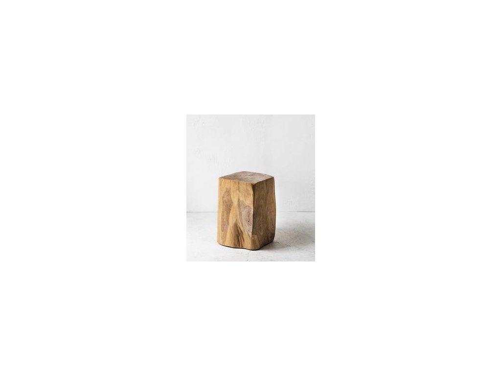 teakový stoleček Kvádr B