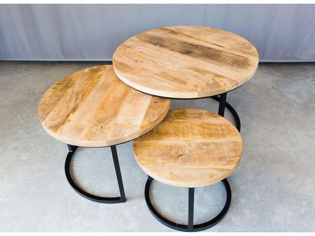 kulatý industriální stolek