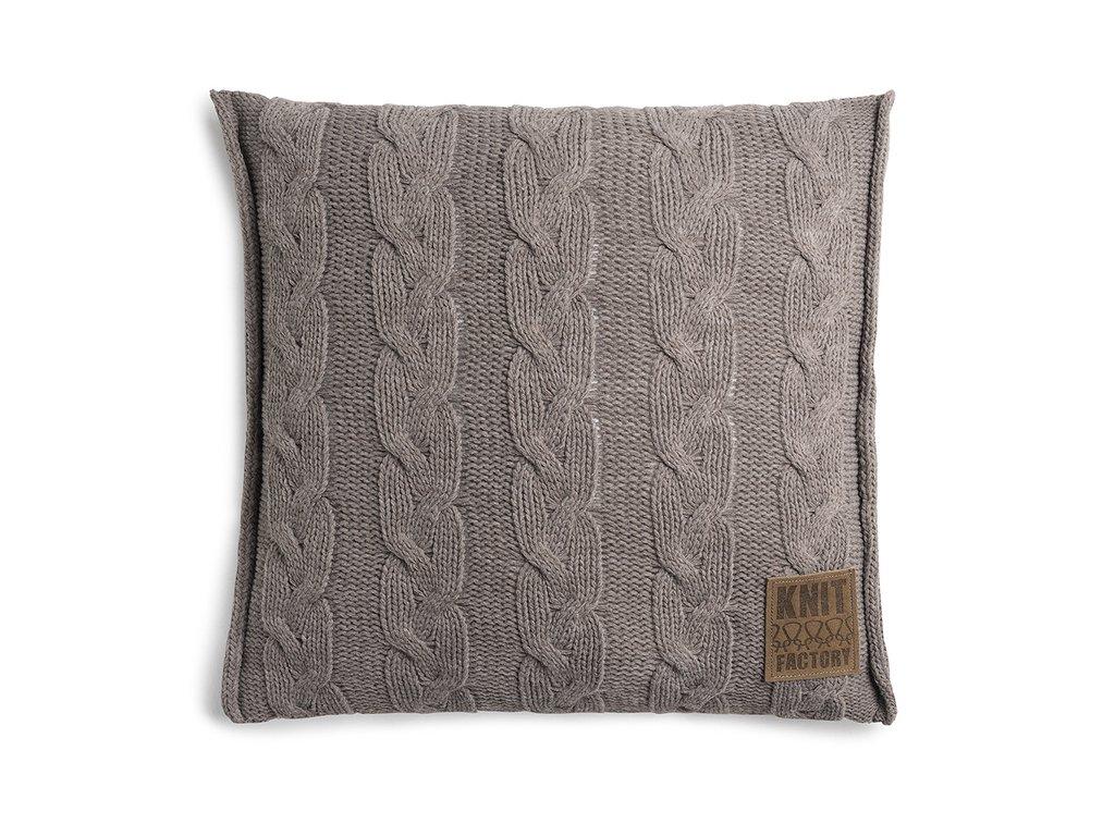 Pletený polštář Sasha 50x50 cm taupe
