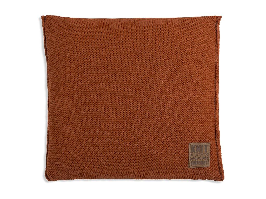 Pletený polštář Uni 50x50 cm cihlový