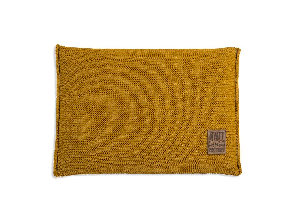 Pletený polštář Uni 60x40 cm okrový