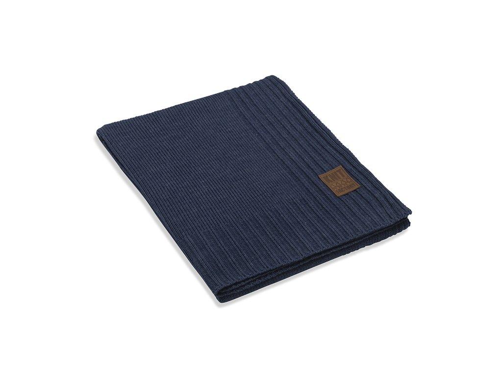Pletený přehoz Uni 160x130 cm jeans