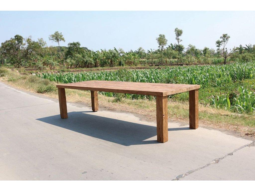 teakový stůl EROSION KVS
