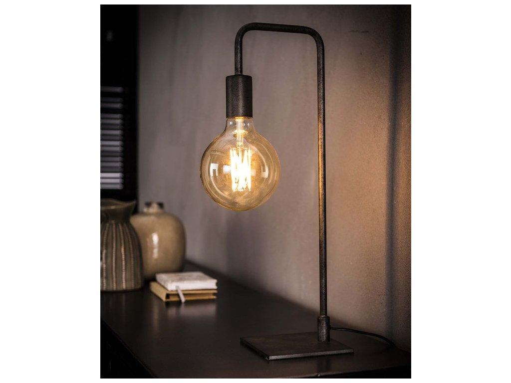 stolní industriální lampa zahnutá