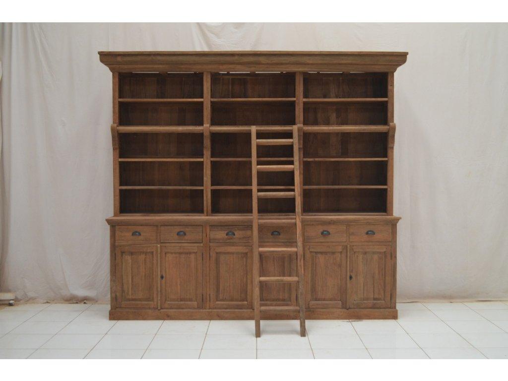 teaková knihovna UB001