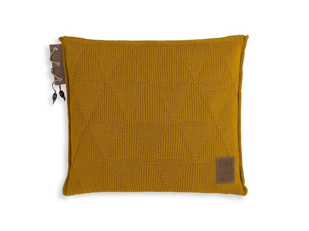 pletený polštář JAY 50x50 okrový