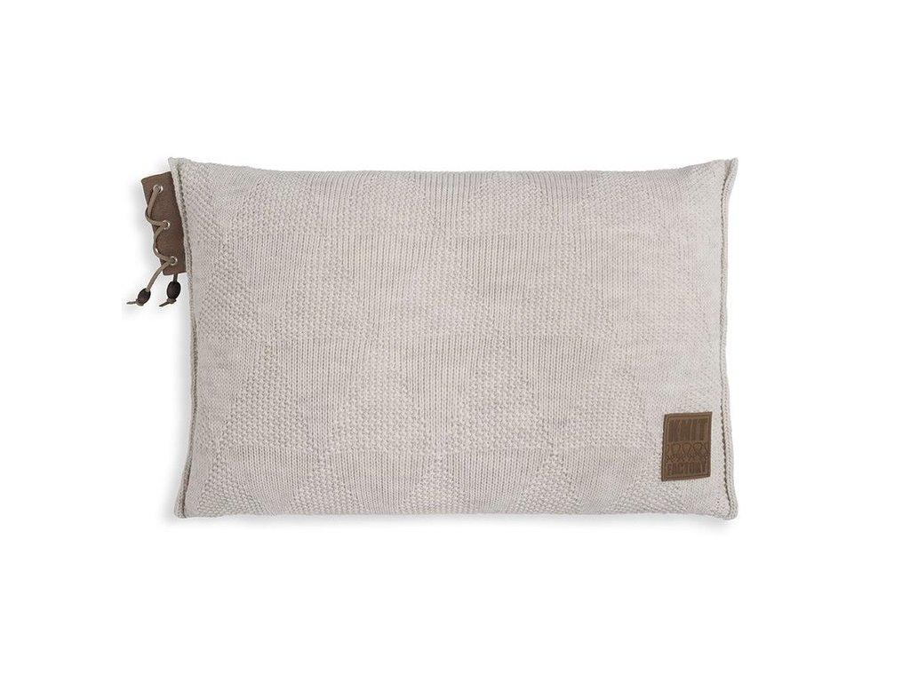 pletený polštář JAY 60x40 béžový