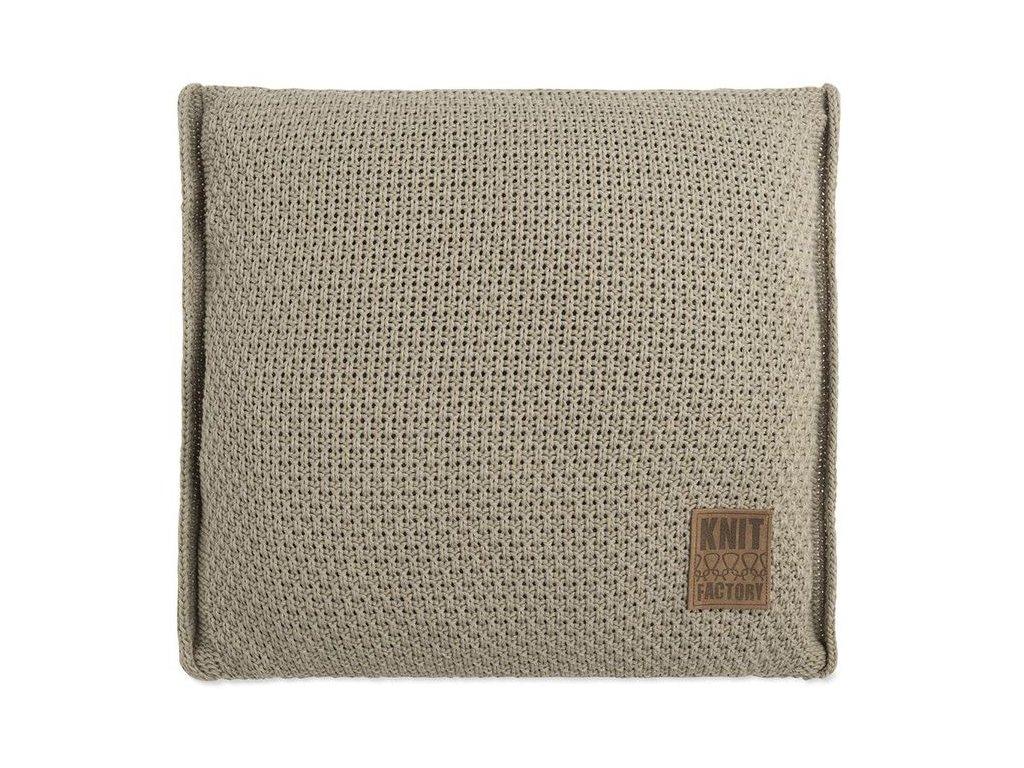 pletený polštář JESSE 50x50 olivový