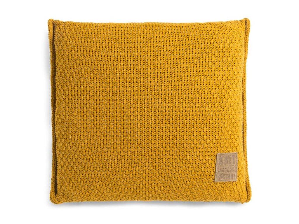 pletený polštář JESSE 50x50 okrový