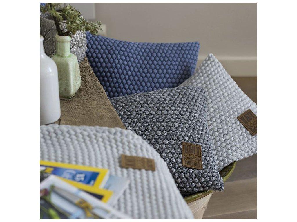 Pletený polštář Juul 50x50 cm - různé barvy