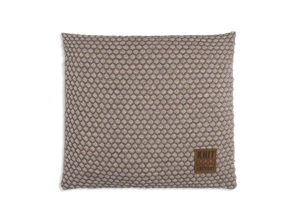 Pletený polštář Juul 50x50 cm béžový