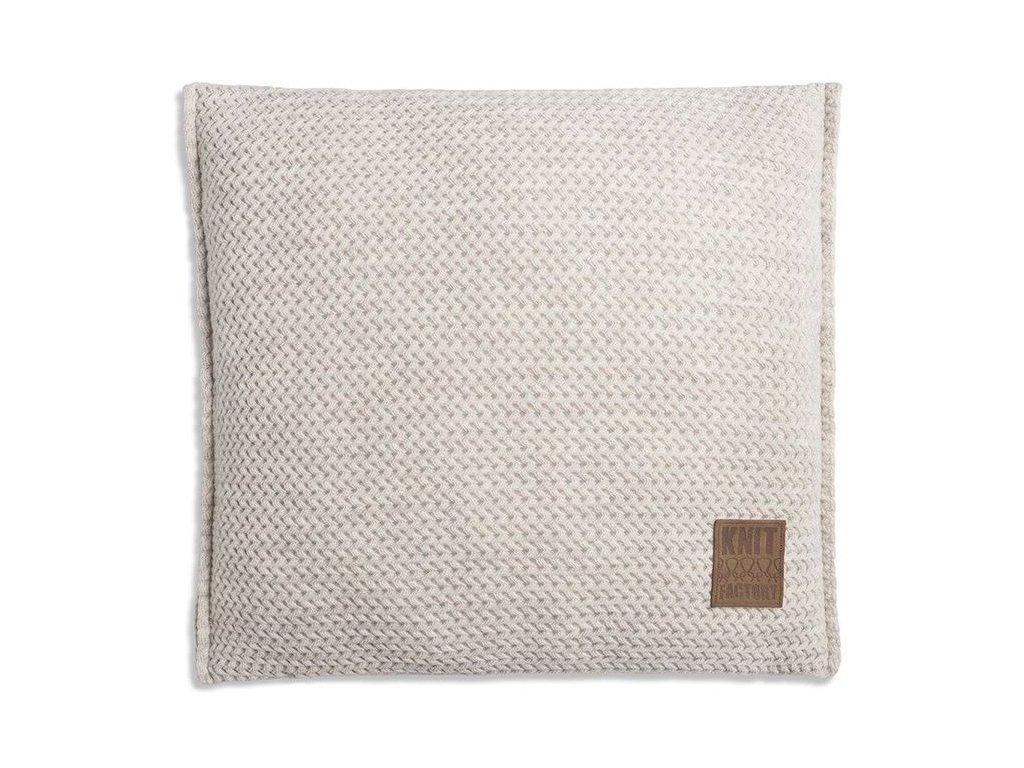Pletený polštář Maxx 50x50 cm krémový