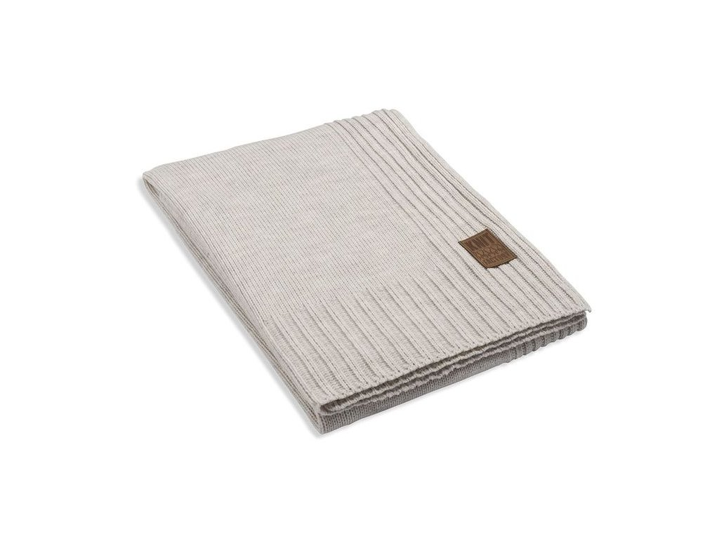Pletený přehoz Uni 160x130 cm krémový