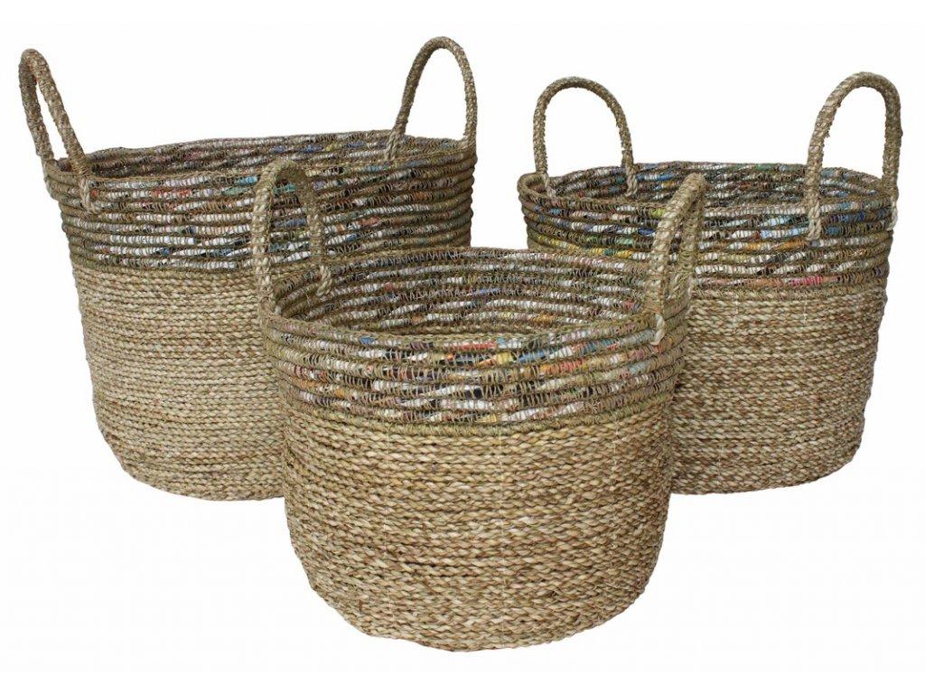 košík přírodní ABACA