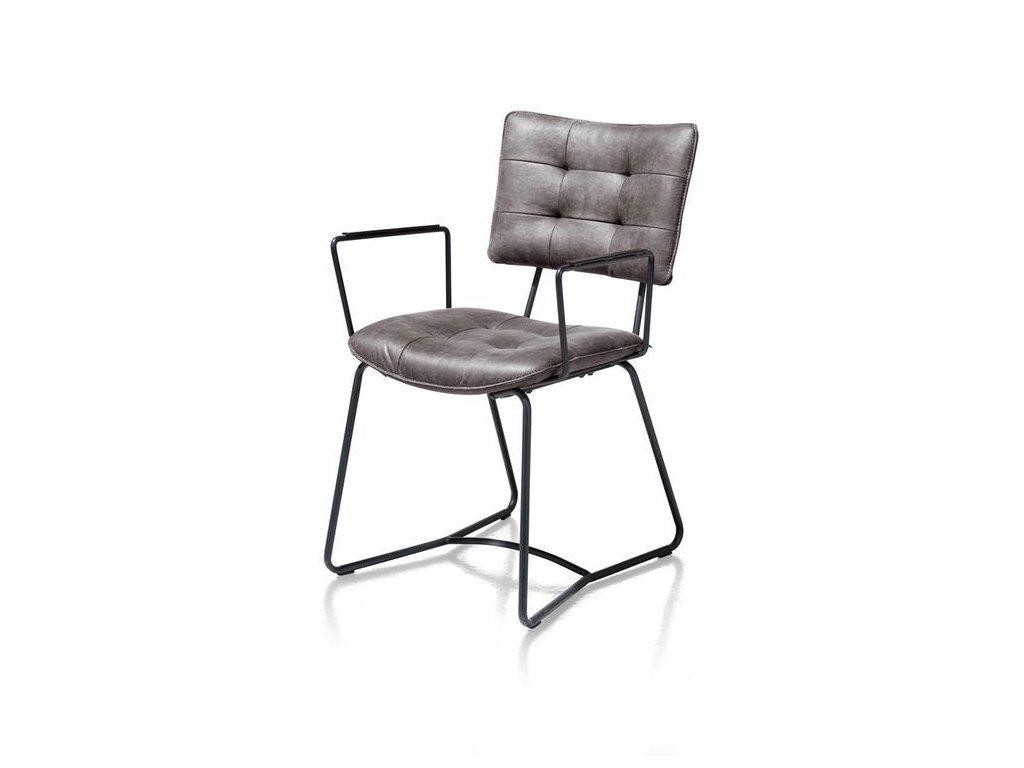 polstrovaná židle JULLA s područkama - antracitová