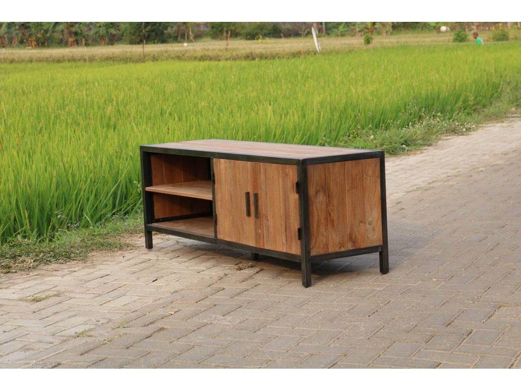 teakový industriální stolek JAVA