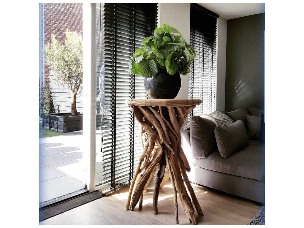 teakový stolek HEXAGONAL NATUR