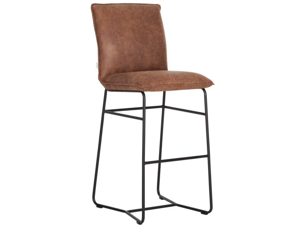 kožená barová židle RIVER 2