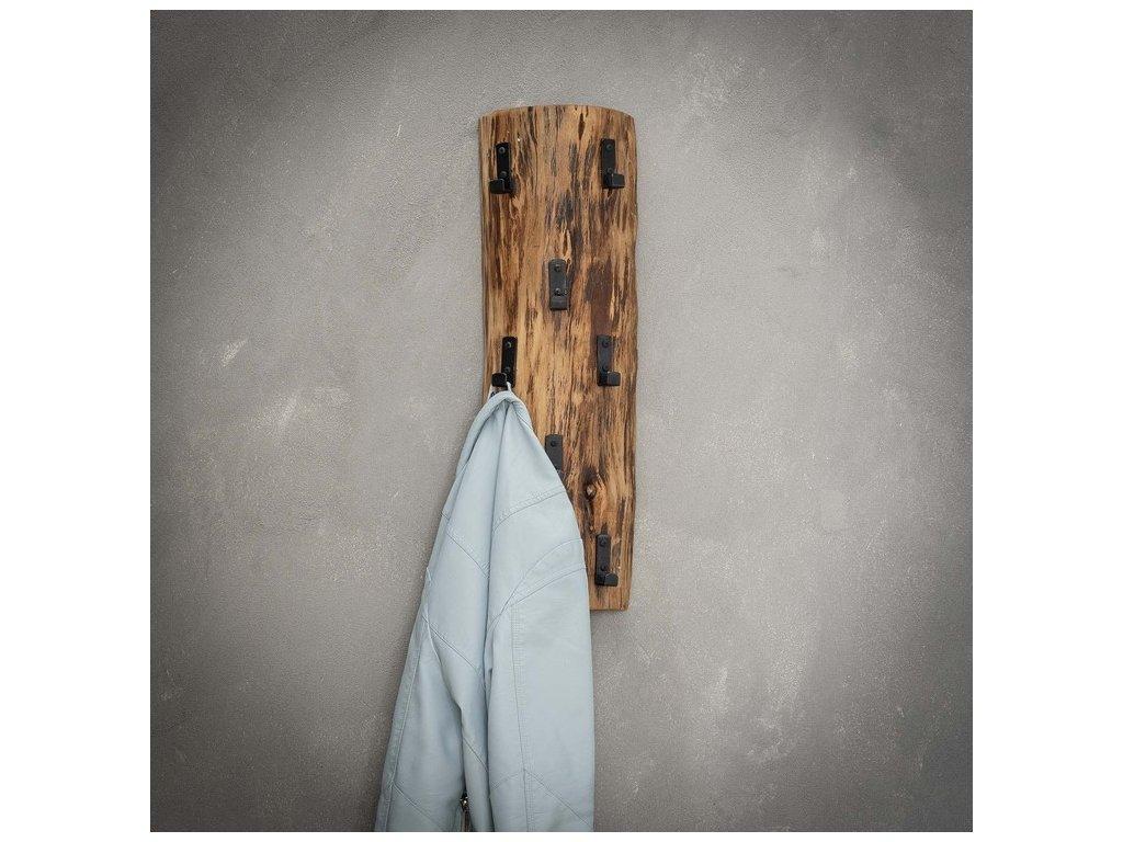 dřevěný věšák na kabáty - 8 háčků