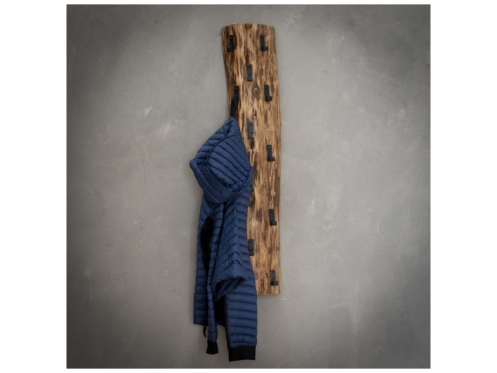 dřevěný věšák na kabáty - 14 háčků