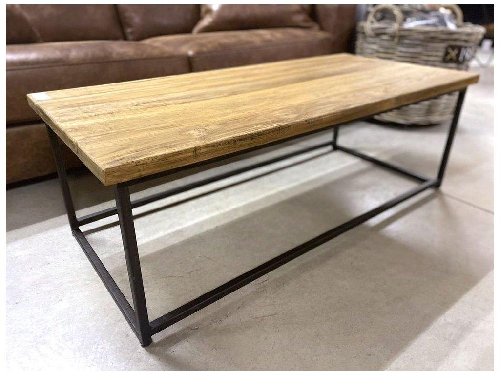 teakový konferenční stolek VINTAGE 120x55