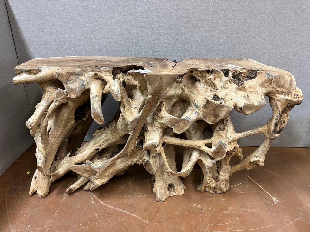 konzola teakový kořen 150 přírodní