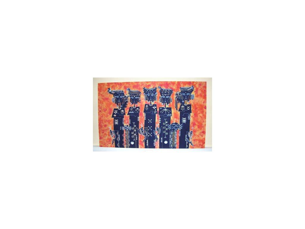 batikovaný obraz 90x150cm