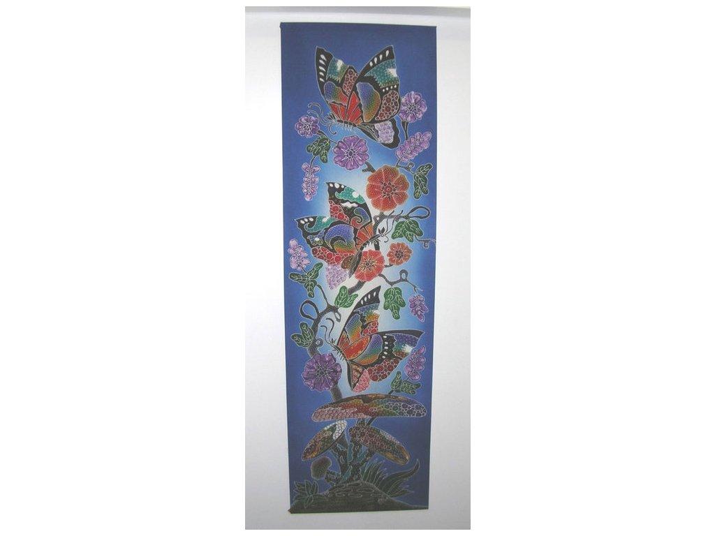 batikovaný obraz 45x150cm