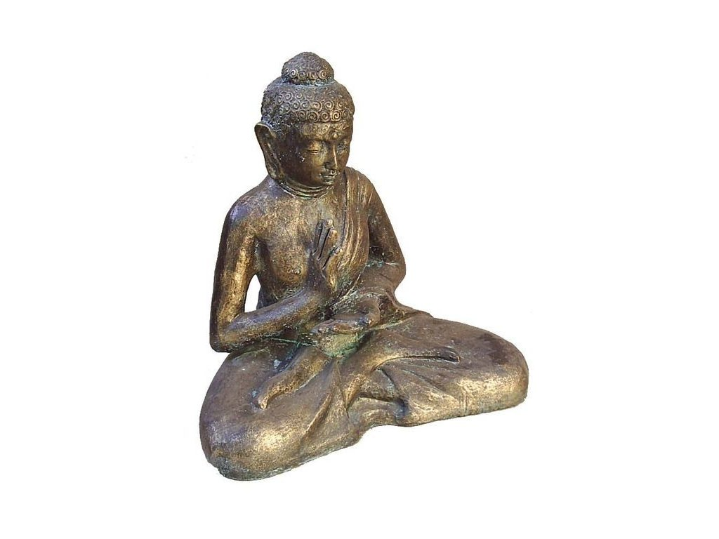 socha Budha sedíci  bronz 52x27x57cm