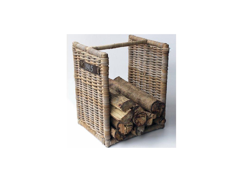 ratanový stojan na dřevo 50cm