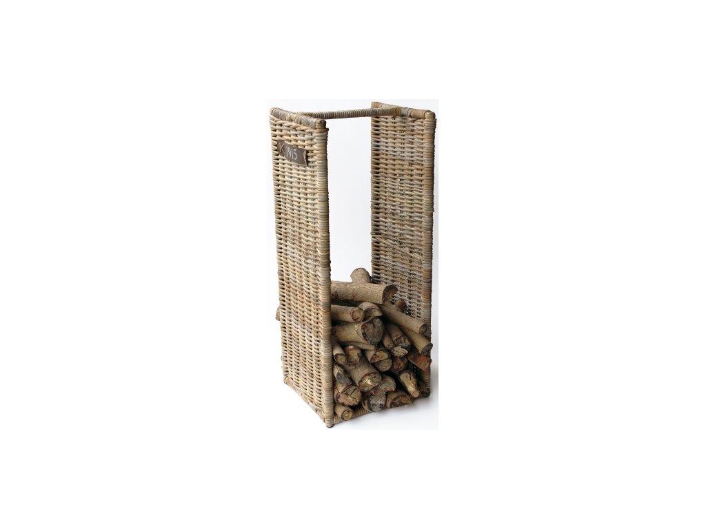 ratanový stojan na dřevo 100cm