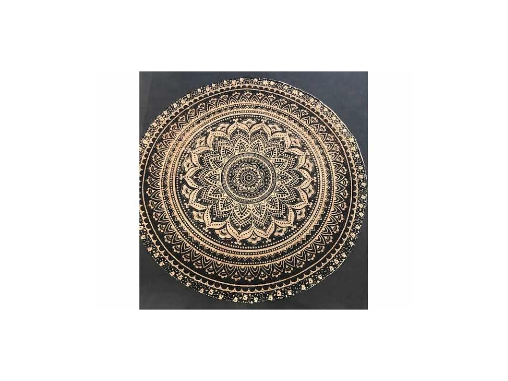 koberec kulatý 180 černo přírodní
