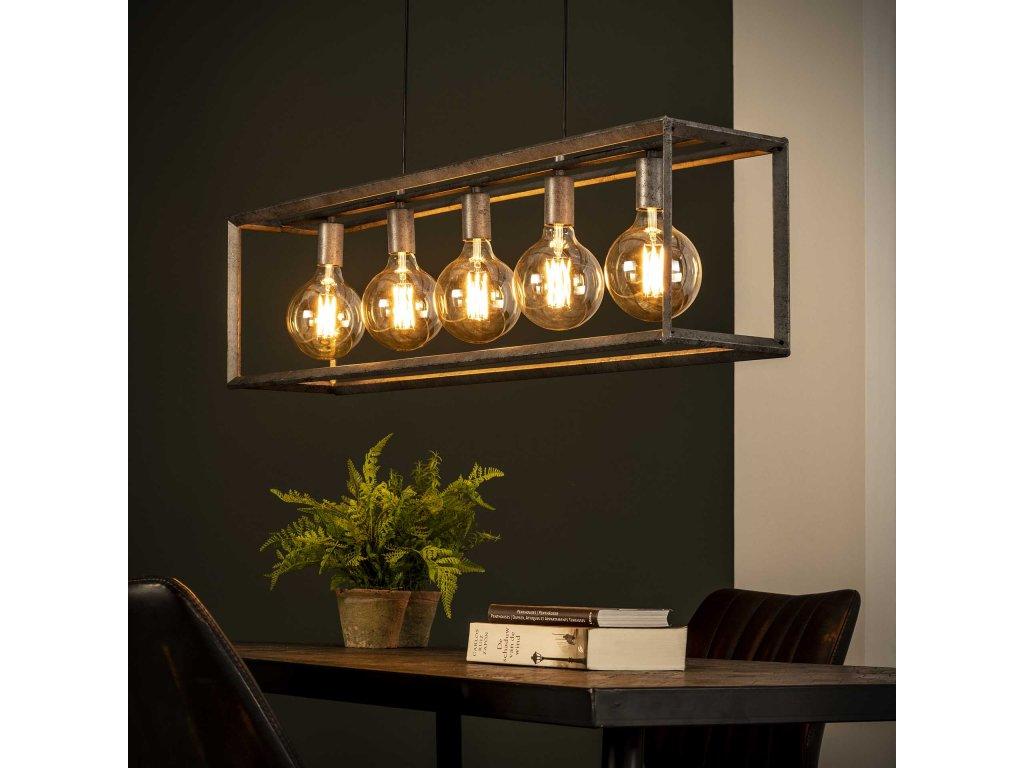 Závěsná lampa 5L 45 ° rám
