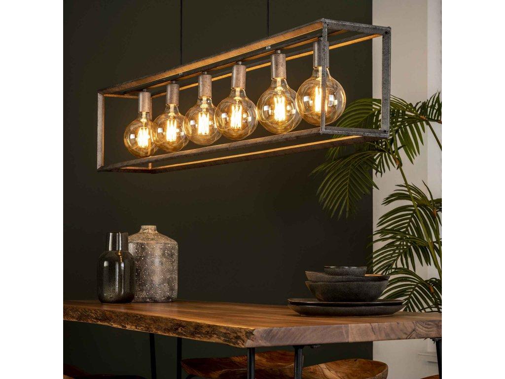 Závěsná lampa 6L 45 ° rám