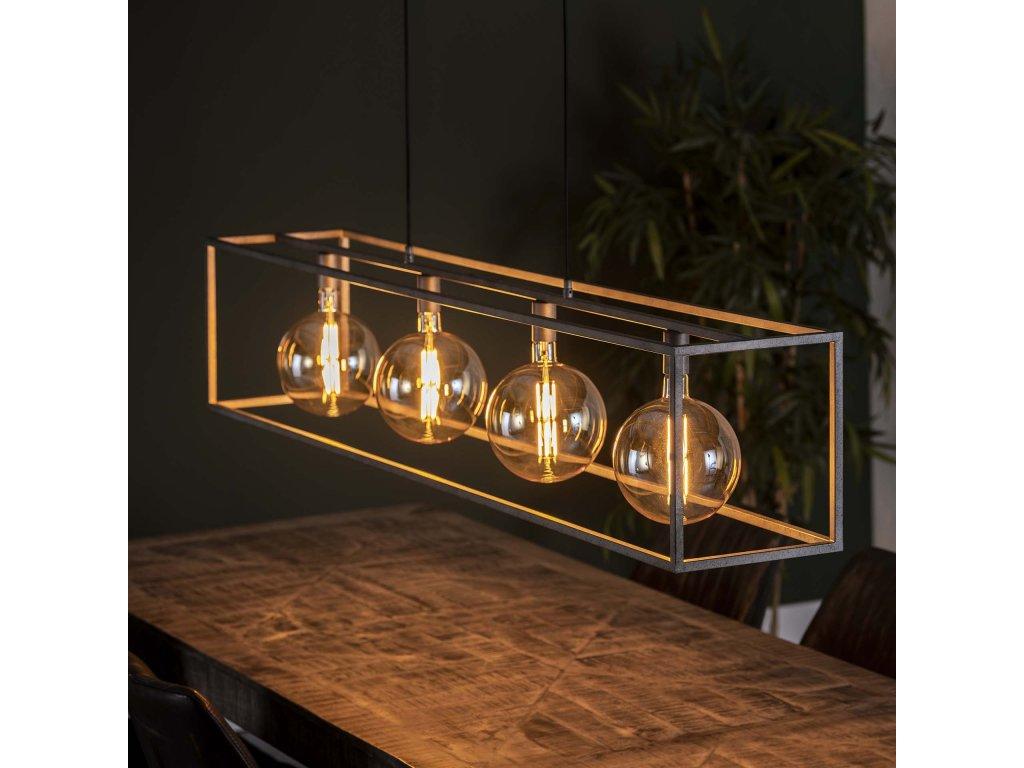 Závěsná lampa 4L obří čtverec