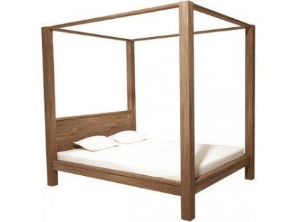 teaková postel CANOPY