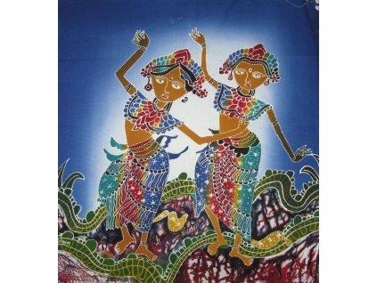 batikovaný obraz 45x50cm