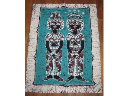 batikovaný obraz 70x90cm