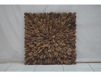 dřevěná dekorace na stěnu