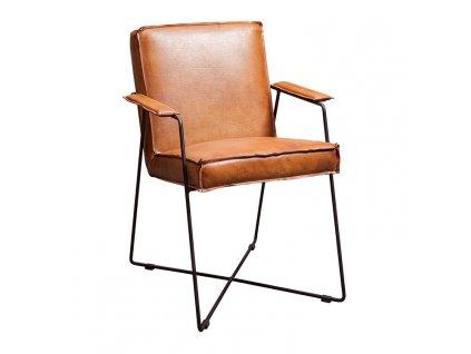 kožená industriální židle ODC806